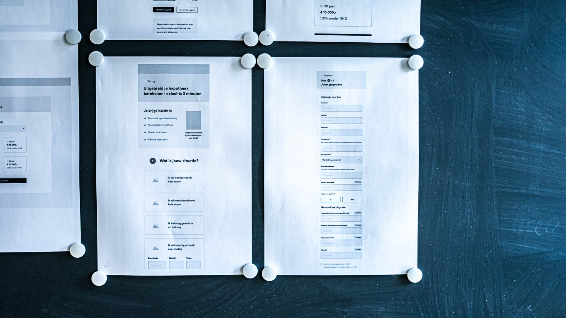 Case - Finzie - Wireframing