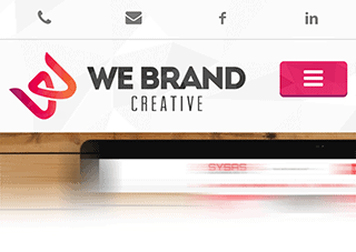 Responsive website We Brand Creative